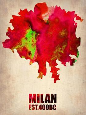 Milan Watercolor Map by NaxArt