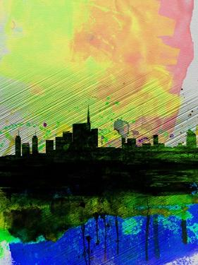 Milan Watercolor Skyline 2 by NaxArt