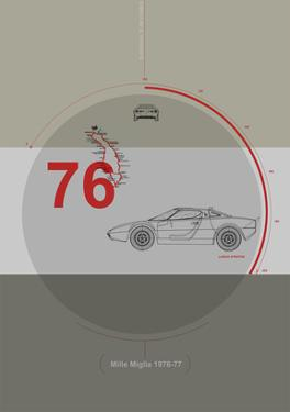Mille Miglia Poster by NaxArt