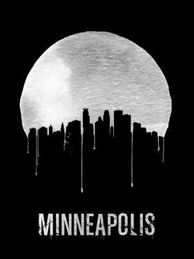 Minneapolis Skyline Black by NaxArt