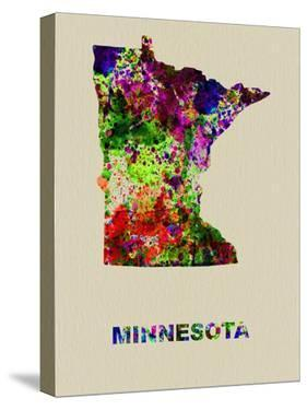 Minnesota Color Splatter Map by NaxArt