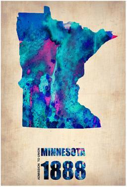 Minnesota Watercolor Map by NaxArt