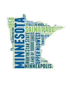 Minnesota Word Cloud Map by NaxArt