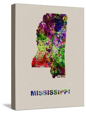 Mississippi Color Splatter Map by NaxArt