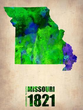 Missouri Watercolor Map by NaxArt