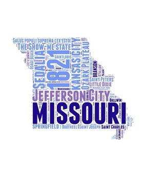 Missouri Word Cloud Map by NaxArt