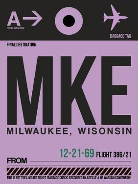 MKE Milwaukee Luggage Tag I by NaxArt