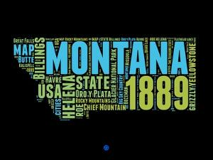 Montana Word Cloud 1 by NaxArt
