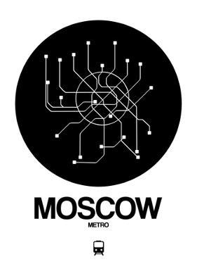 Moscow Black Subway Map by NaxArt