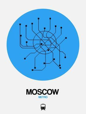 Moscow Blue Subway Map by NaxArt