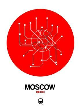 Moscow Red Subway Map by NaxArt