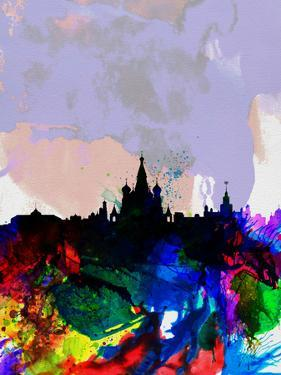 Moscow Watercolor Skyline by NaxArt