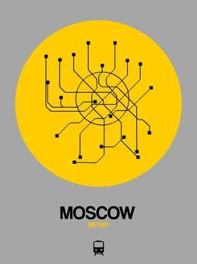 Moscow Yellow Subway Map by NaxArt