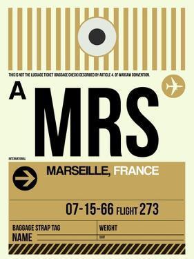 MRS Marseille Luggage Tag I by NaxArt