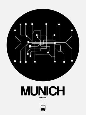 Munich Black Subway Map by NaxArt