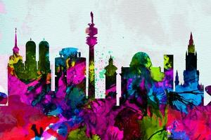 Munich City Skyline by NaxArt