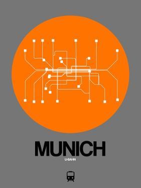 Munich Orange Subway Map by NaxArt