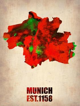 Munich Watercolor Map by NaxArt