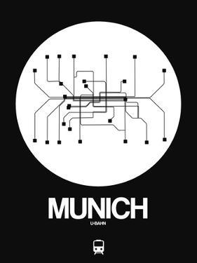 Munich White Subway Map by NaxArt