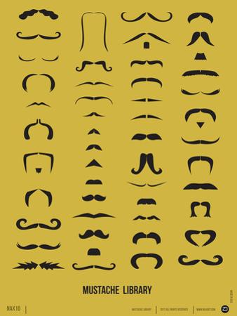 Mustache Library Poster