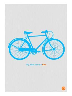 My Other Car Is A Bike ( Blue Poster) by NaxArt