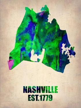 Nashville Watercolor Map by NaxArt