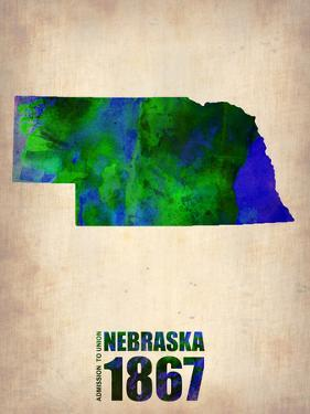 Nebraska Watercolor Map by NaxArt