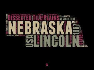 Nebraska Word Cloud 1 by NaxArt