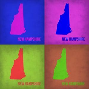 New Hampshire Pop Art Map 1 by NaxArt