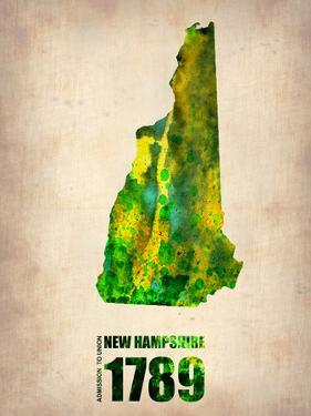 New Hampshire Watercolor Map by NaxArt