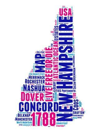 New Hampshire Word Cloud Map by NaxArt