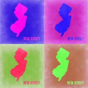 New Jersey Pop Art Map 2 by NaxArt