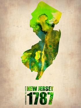 New Jersey Watercolor Map by NaxArt