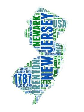 New Jersey Word Cloud Map by NaxArt