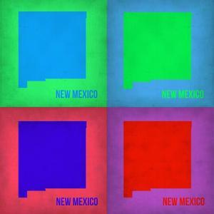 New Mexico Pop Art Map 1 by NaxArt