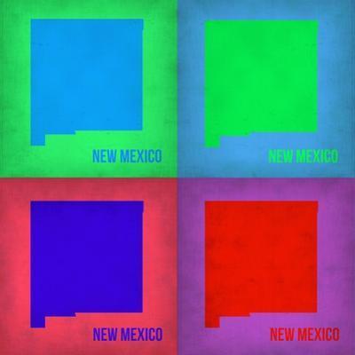 New Mexico Pop Art Map 1 by NaxArt