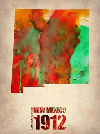 New Mexico Watercolor Map by NaxArt