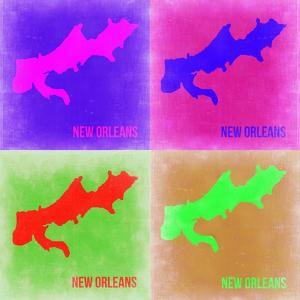 New Orleans Pop Art Map 2 by NaxArt