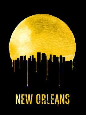 New Orleans Skyline Yellow by NaxArt