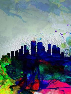 New Orleans Watercolor Skyline by NaxArt