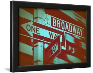 New York Broadway Sign by NaxArt