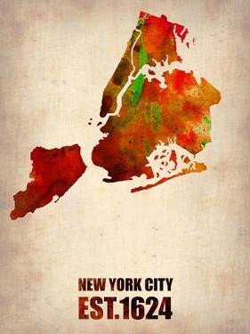 New York City Watercolor Map 2 by NaxArt