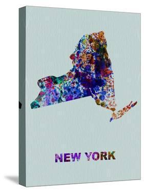 New York Color Splatter Map by NaxArt