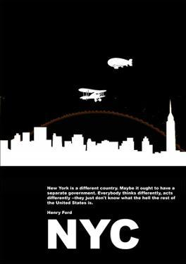 New York Night Poster by NaxArt