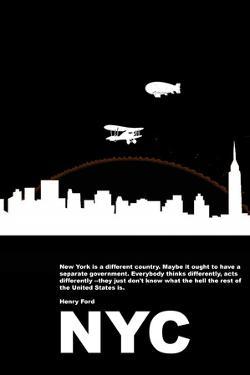 New York Night Poster by NaxArt