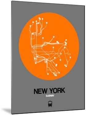 New York Orange Subway Map by NaxArt