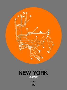 New York Orange Subway Map by NaxArt