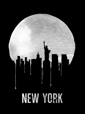 New York Skyline Black by NaxArt
