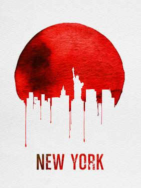 New York Skyline Red by NaxArt