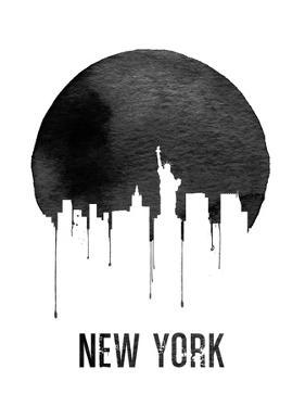 New York Skyline White by NaxArt